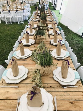 Windhoek Venue Natural Table Decor