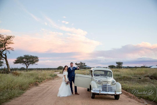 Windhoek Wedding Venue Vintage Car