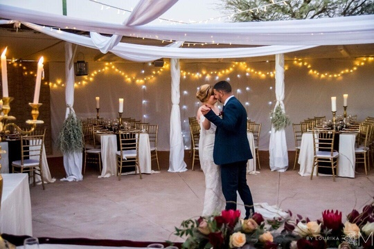 Windhoek Wedding Venue First Dance Fairylights