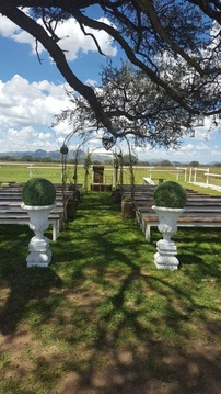 Windhoek Wedding Venue Outdoor Ceremony Aisle